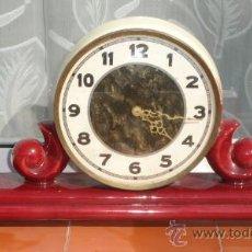 Relojes de carga manual: RELOJ ALEMÁN CERAMICA DE CUERDA, ART DECO.. Lote 27404236