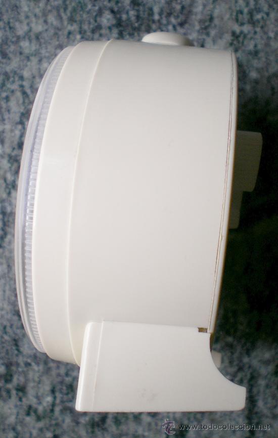 Relojes de carga manual: Reloj despertador vintage a cuerda Jaz, plástico blanco - Foto 3 - 31390098