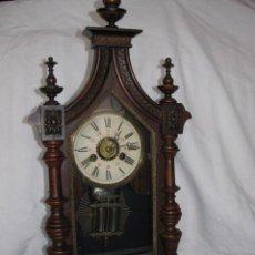 Relojes de carga manual: RELOJ CAPILLA VICTORIANO PENDULO MERCURIO DESPERTADOR. Lote 31583307