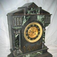 Relojes de carga manual: PRECIOSO RELOJ ANTIGUO DE MÁRMOL. Lote 32061464