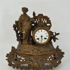 Relojes de carga manual: RELOJ DE SOBREMESA FRANCES EN BRONCE. Lote 32598260