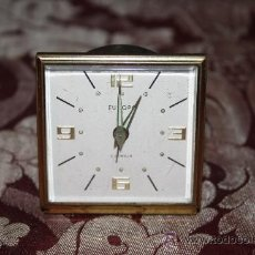 Relojes de carga manual: BONITO RELOJ DE SOBREMESA 'EUROPA' 2 JEWELS EN METAL DORADO - MED. S.XX. Lote 33629665