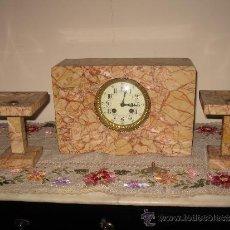 Relojes de carga manual: RELOJ DE SOBREMESA ESTILO ART DECO MAQUINA PARIS, CON GUARNICIÓN. Lote 33808381