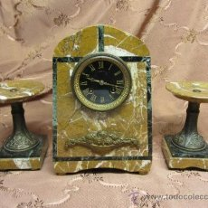 Relojes de carga manual: MAGNÍFICO RELOJ ART DECÓ EN MÁRMOL.. Lote 33817712