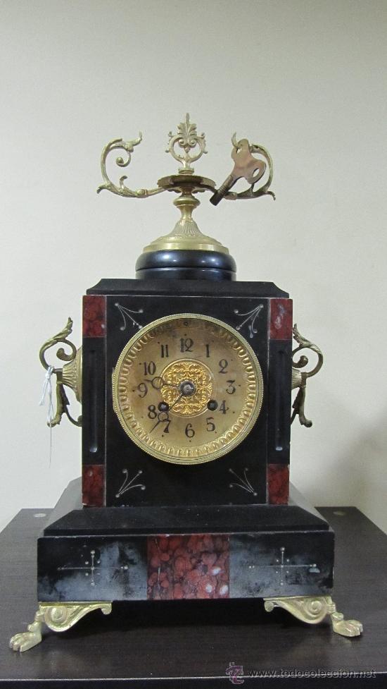 RELOJ FRANCÉS TIPO PARÍS SIGLO XIX. (Relojes - Sobremesa Carga Manual)