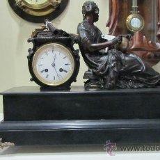 Relojes de carga manual: RELOJ FRANCÉS ESTILO IMPERIO SIGLO XIX. Lote 33924900