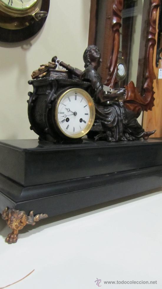 Relojes de carga manual: RELOJ FRANCÉS ESTILO IMPERIO SIGLO XIX - Foto 3 - 33924900