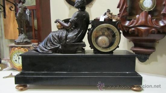 Relojes de carga manual: RELOJ FRANCÉS ESTILO IMPERIO SIGLO XIX - Foto 5 - 33924900