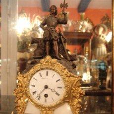 Relojes de carga manual: ANTIGUO RELOJ DE CALAMINA. Lote 34006781