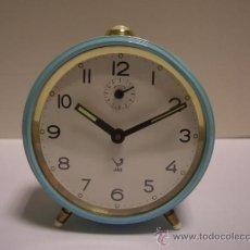 Relojes de carga manual: RELOJ DESPERTADOR DE CUERDA, MARCA JAZ, FUNCIONANDO. Lote 34310404