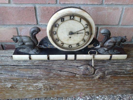 RELOJ ANTIGUO DE SOBREMESA (Relojes - Sobremesa Carga Manual)