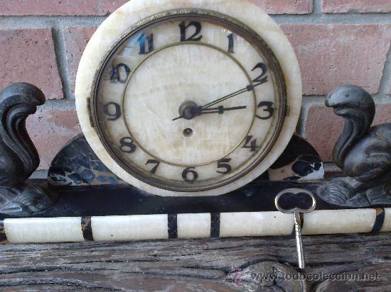 Relojes de carga manual: reloj antiguo de sobremesa - Foto 2 - 34616075