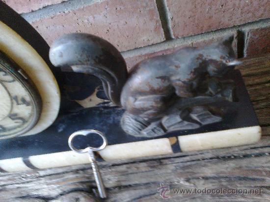 Relojes de carga manual: reloj antiguo de sobremesa - Foto 4 - 34616075