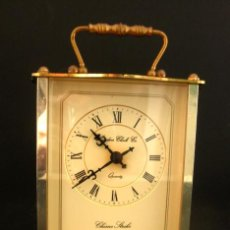 Relojes de carga manual: RELOJ LATON * CHIME STRIKE * VINTAGE AÑOS 70 * LONDON CLOCK CO * FUNCIONA * . Lote 35504919