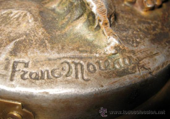Relojes de carga manual: RELOJ SOBREMESA MÁQUINA PARIS Sur la Plage por Francois Moreau M ile D´or - Foto 6 - 36409760