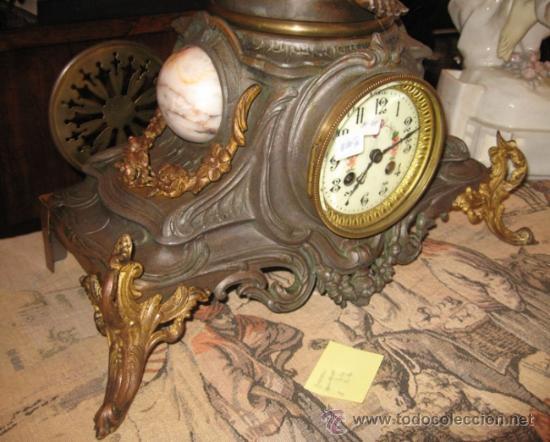Relojes de carga manual: RELOJ SOBREMESA MÁQUINA PARIS Sur la Plage por Francois Moreau M ile D´or - Foto 8 - 36409760