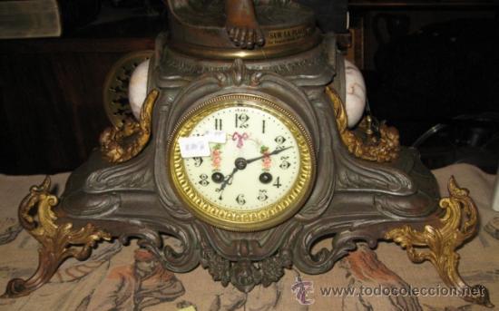 Relojes de carga manual: RELOJ SOBREMESA MÁQUINA PARIS Sur la Plage por Francois Moreau M ile D´or - Foto 9 - 36409760