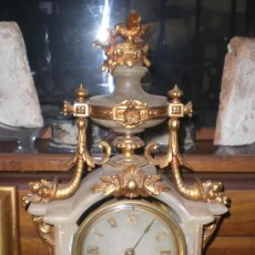 Relojes de carga manual: PRECIOSO RELOJ ANTIGUO CON DORADOS. S.XIX. MAQUINARIA PARIS. Lote 36578914