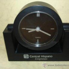 Relógios de carga manual: RELOJ DECORATIVO CON PUBLICIDAD CENTRAL HISPANO EMPRESAS - ABATIBLE - FUNCIONANDO. Lote 36749483