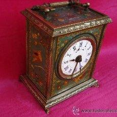 Relojes de carga manual: ANTIGUO RELOJ DE VIAJE Y SOBREMESA 1878, CON PÉNDULO INTERNO. Lote 36822606