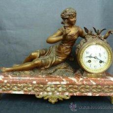 Relojes de carga manual: RELOJ CON GUARNICIÓN FRANCÉS, CON FIGURA DE CALAMINA DE RUFFONI. Lote 37178729