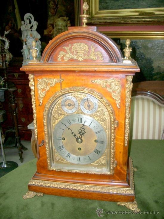 Bracket ingles o victoriano reloj de sobremesa comprar - Relojes de sobremesa antiguos ...
