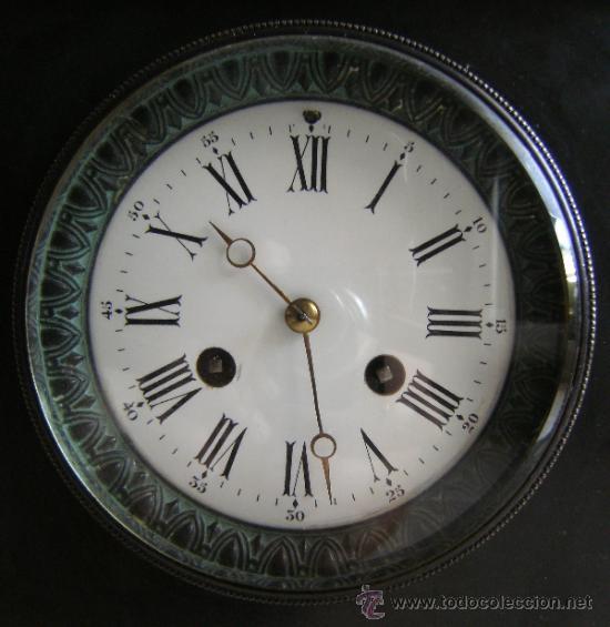 Relojes de carga manual: ANTIGUO RELOJ DE SOBREMESA MARMOL Y BRONCE NEGRO - Foto 3 - 37831042