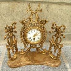 Relojes de carga manual: ANTIGUO RELOJ SOBREMESA BRONCE. Lote 38387029