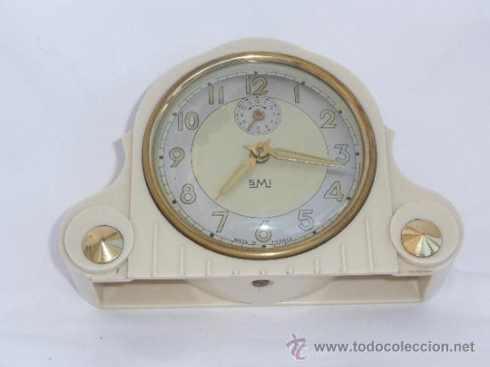 Relojes de carga manual: reloj despertador francés de sobremesa - Foto 7 - 257339225