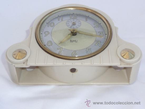 Relojes de carga manual: reloj despertador francés de sobremesa - Foto 5 - 257339225