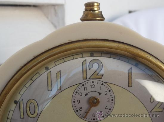 Relojes de carga manual: reloj despertador francés de sobremesa - Foto 3 - 257339225