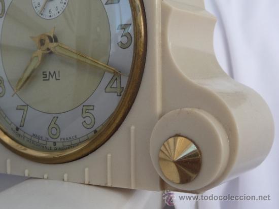 Relojes de carga manual: reloj despertador francés de sobremesa - Foto 4 - 257339225