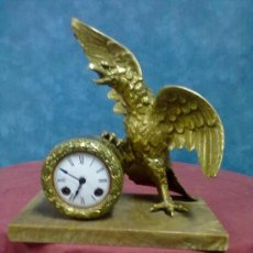 Relojes de carga manual: RELOJ AGUILA BRONCE VINTAGE. Lote 38623105