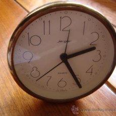 Relojes de carga manual: RELOJ MESA DORADO JERGER QUARTZ. Lote 53136364