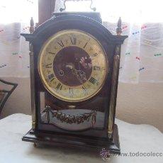 Relojes de carga manual: RELOJ SOBREMESA CAJA DE MADERA Y CRISTAL. Lote 39088405
