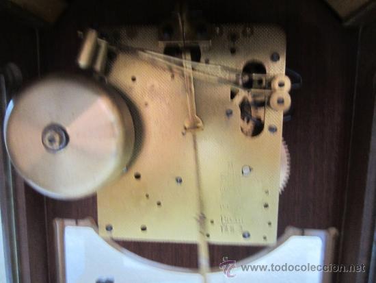 Relojes de carga manual: reloj sobremesa caja de madera y cristal - Foto 2 - 39088405