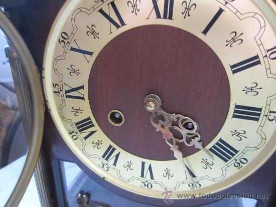 Relojes de carga manual: reloj sobremesa caja de madera y cristal - Foto 3 - 39088405