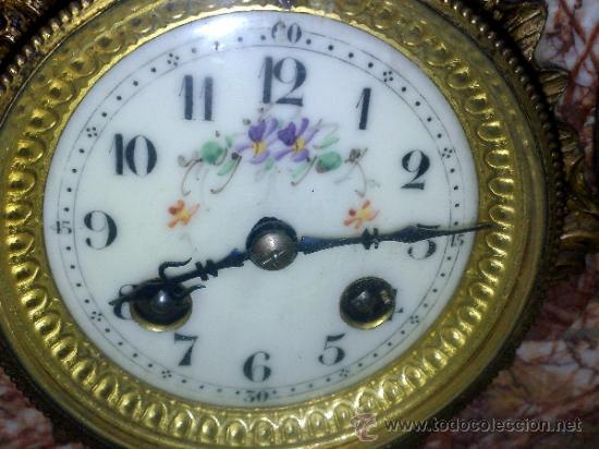 Relojes de carga manual: PPOS. XX. RELOJ DE SOBREMESA EN MÁRMOL Y CALAMINA. FIRMADO Y TITULADO. - Foto 9 - 32087386