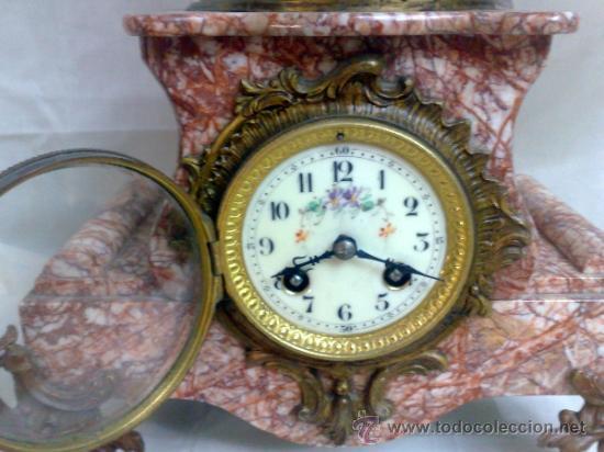 Relojes de carga manual: PPOS. XX. RELOJ DE SOBREMESA EN MÁRMOL Y CALAMINA. FIRMADO Y TITULADO. - Foto 13 - 32087386