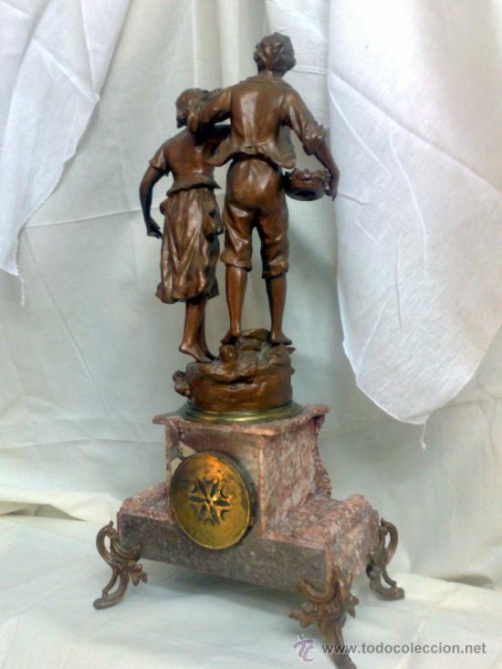 Relojes de carga manual: PPOS. XX. RELOJ DE SOBREMESA EN MÁRMOL Y CALAMINA. FIRMADO Y TITULADO. - Foto 17 - 32087386