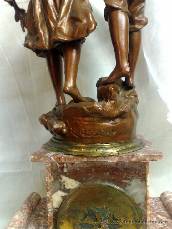 Relojes de carga manual: PPOS. XX. RELOJ DE SOBREMESA EN MÁRMOL Y CALAMINA. FIRMADO Y TITULADO. - Foto 19 - 32087386