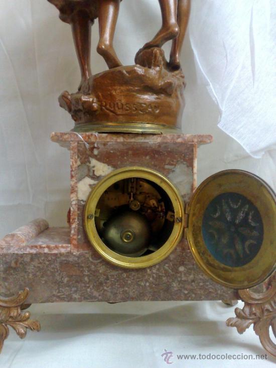 Relojes de carga manual: PPOS. XX. RELOJ DE SOBREMESA EN MÁRMOL Y CALAMINA. FIRMADO Y TITULADO. - Foto 20 - 32087386