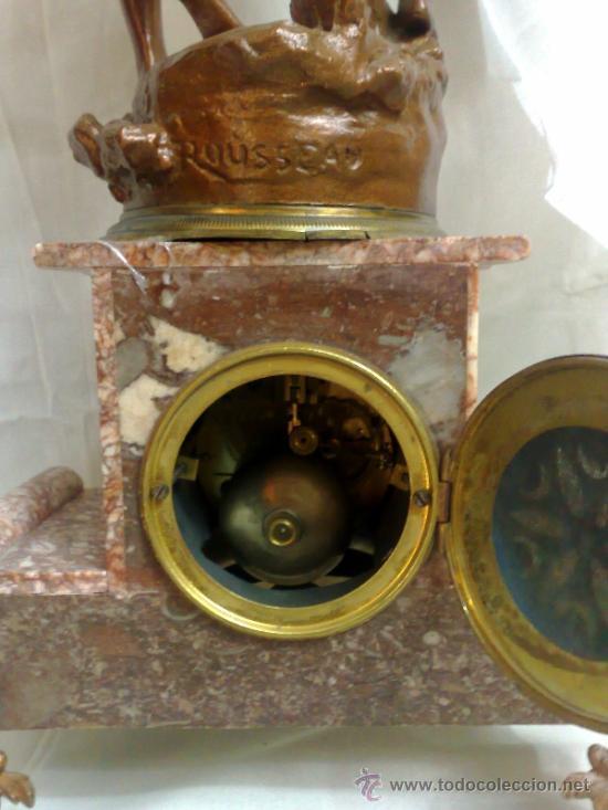 Relojes de carga manual: PPOS. XX. RELOJ DE SOBREMESA EN MÁRMOL Y CALAMINA. FIRMADO Y TITULADO. - Foto 21 - 32087386