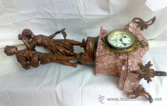 Relojes de carga manual: PPOS. XX. RELOJ DE SOBREMESA EN MÁRMOL Y CALAMINA. FIRMADO Y TITULADO. - Foto 23 - 32087386