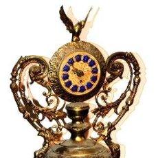 Relojes de carga manual: RELOJ DE SOBREMESA EN BRONCE. VINTAGE - ANCIENT. Lote 40029939