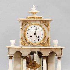 Relojes de carga manual: RELOJ IMPERIO EN ALABASTRO Y BRONCE DORADO W SCHONBERGUER S XIX. Lote 40037995