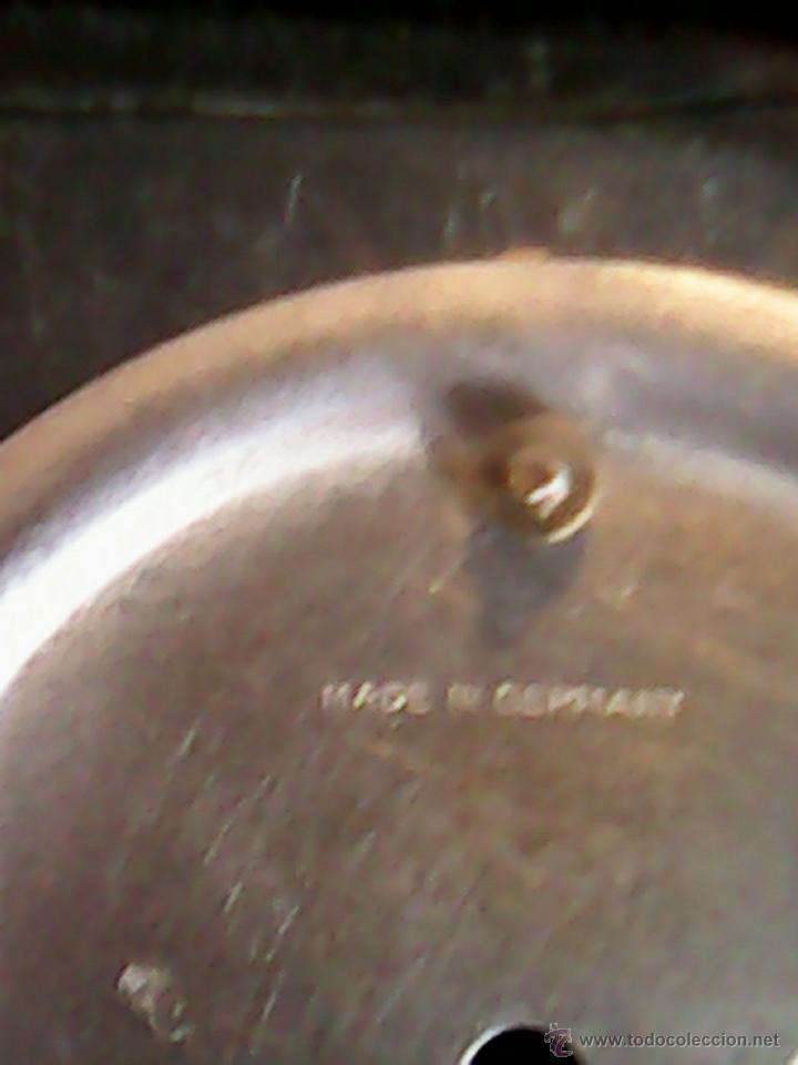 Relojes de carga manual: ANTIGUO RELOJ SOBRE MESA CARGA MANUAL.HECHO A MANO UNA CASITA DE MADERA, MAD.GERMANY.FUNCIONA PERFEC - Foto 11 - 40488474