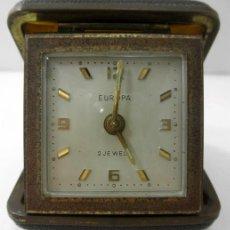 Relojes de carga manual: ANTIGUO RELOJ EUROPA 2 JEWELS * DESPERTADOR DE VIAJE. Lote 41662990