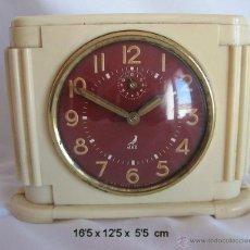 Relojes de carga manual: RELOJ DESPERTADOR ART DECO BAQUELITA JAZ. Lote 139515377