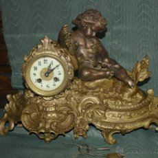 Relojes de carga manual: RELOJ SOBREMESA. CALAMINA. MÁQUINA PARÍS. EN MARCHA. SXIX. FRANCIA.. Lote 42250039
